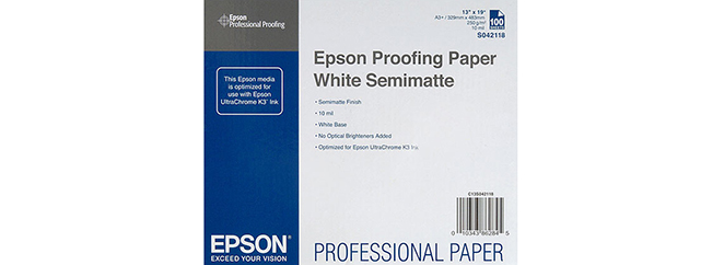 PROOFING PAPER WHITE SEMIMATTE